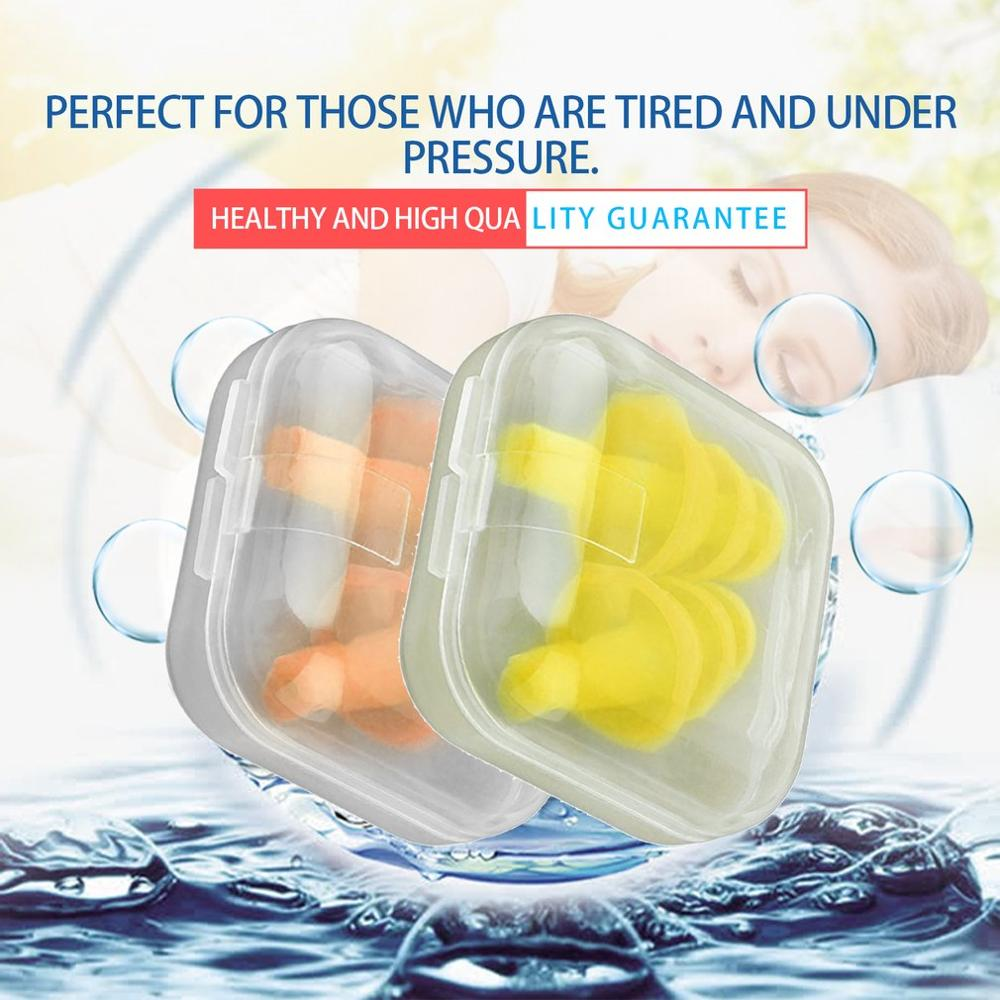 1 par/3 Pares Espiral Tampões de Ouvido À Prova D' Água Silicone Anti Ronco Ruído Confortável Para Dormir Tampões de Redução de Ruído Acessório
