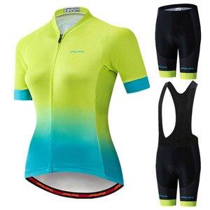 JPOJPO 2019 Pro Cycling Clothing Women Team Uniform Cycling Jersey Set Summer Quick Dry Bicycle Wear Racing MTB Bike Jersey Set