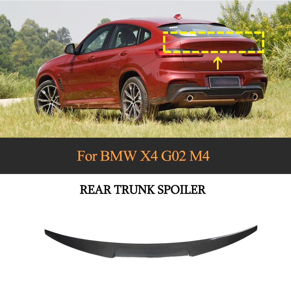 X4 ため G02 炭素繊維車のリアトランク翼 Bmw X4 G02 2019 2020 リアウイングスポイラーブーツ蓋