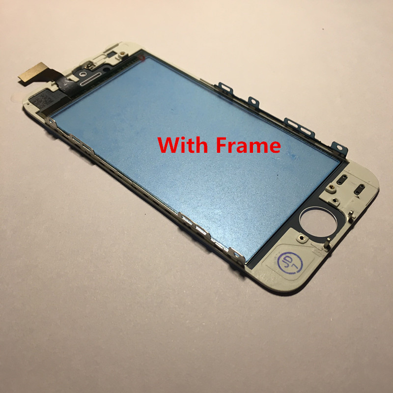 Touch Screen For iPhone 5S 5 Touch Screen With Frame no LCD Display Glass Digitizer title=
