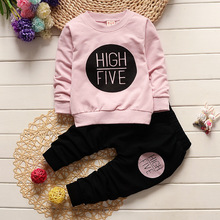 1 2 3 4 Year Children Clothing Set Long Sleeve Shirts + Pants Kids Clothes for Boys Spring Fall Girls Suits Baby Toddler Costume