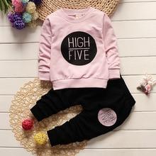 1 2 3 4 שנה ילדי בגדי סט ארוך שרוול חולצות + מכנסיים ילדים בגדי בני אביב סתיו בנות חליפות תינוק פעוט תלבושות