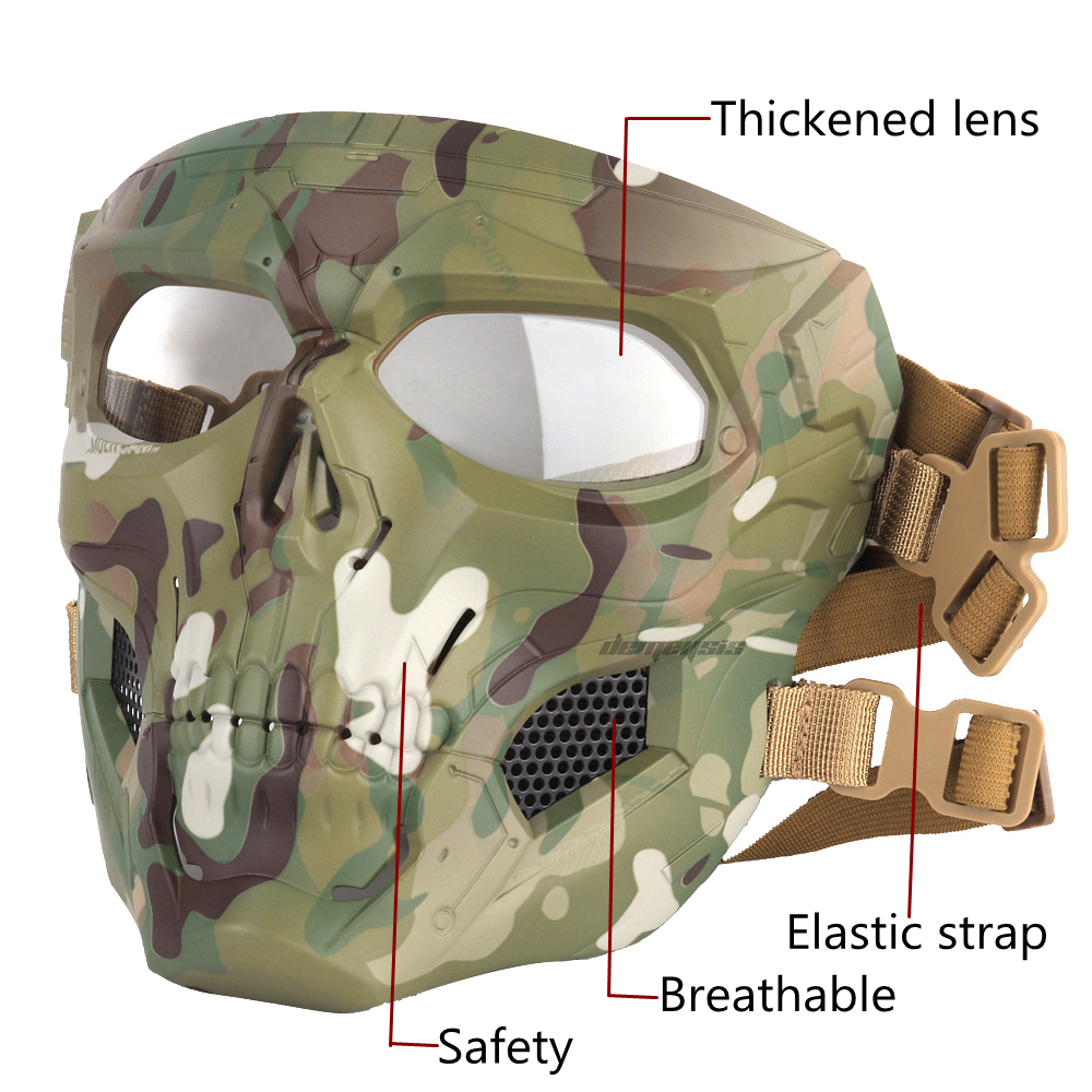 Outdoor Breathable Hunting Shooting Skull Mask 1
