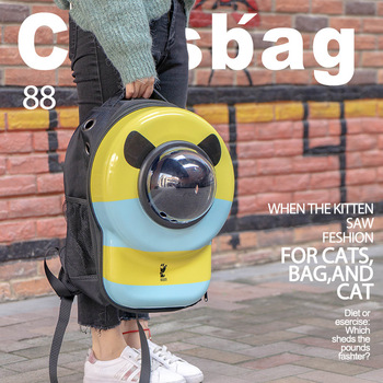 HEYPET Acrylic Portable Breathable Pet Carrier Backpack For Cats Dogs Transparent Capsule Window Bag for Cat Dog Pouch mascotas