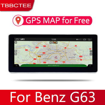 10.25 HD 1080P IPS LCD Screen Android 8 Core For Mercedes Benz G63 2012~2017 Car Radio BT 3G4G AUX USB GPS Navi Multimedia image