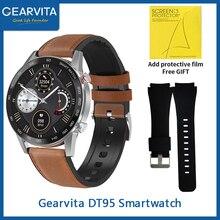 Gearvita DT95 inteligentny zegarek mężczyźni BT zadzwoń IP68 wodoodporna ekg wskaźnik ciepła 360*360 Alarm pomiar podczas snu dla huawei Andriod Mobile