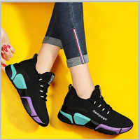 Zapatos de rejilla coloridos para Mujer, zapatos transpirables a la moda antideslizantes para Mujer, zapatos informales para exteriores para Mujer, tallas 36-40, Calzado para Mujer