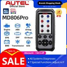 AUTEL-escáner de mano MD806 Pro OBD2 actualizado de MD806/MD808 con todos los sistemas de diagnóstico, 7 funciones especiales, DTC, búsqueda de diagnóstico