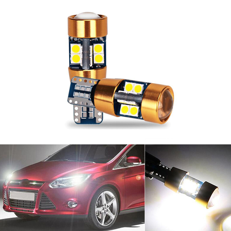 2x T10 W5W LED Wedge Light Marker Lamps Bulb For Ford Fiesta Focus 2 1 Mondeo 4 3 Transit Fusion Kuga Ranger <font><b>Mustang</b></font> KA S-max image