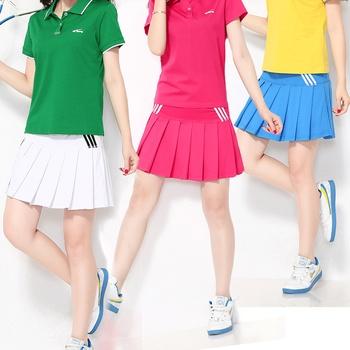 2016 w nowym stylu Casual tenis sport spódnica damska anty-ekspozycji Culottes plisowana spódnica Running wolant krótka spódnica Fitness S tanie i dobre opinie Jingdong Solid Color Guangdong