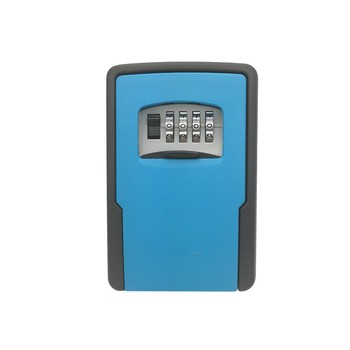 Outdoor Key Storage Lock Box Safe deposit with Combination Code for Outside