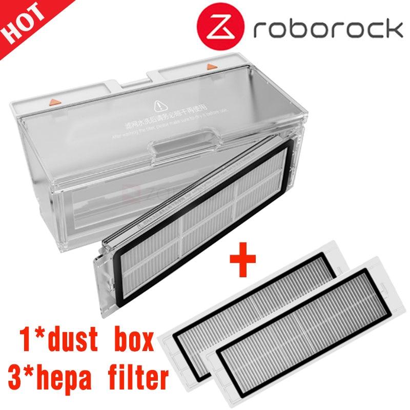 Dust Box Suitable For Xiaomi Mi Robot 2st Generation Roborock S55 S51 S50 Vacuum Cleaner Parts Hepa Filter Replacement Spare Acc