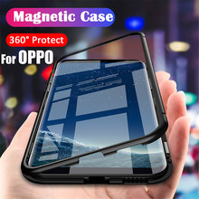 For OPPO F15 F11 Pro F9 F7 Adsorbable Magnetic Metal Frame Phone Cases OPPO A9 A8 A7 A5 A7S A5S A3S R17 R15 Pro Back Glass Cover(China)