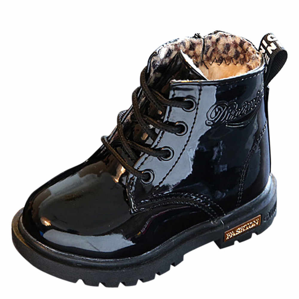 Kinder Mode Jungen Mädchen Martin Sneaker Winter Dicke Schneeschuhe Baby Casual Schuhe