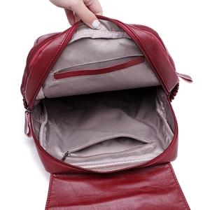 Image 4 - LANYIBAIGE sac à dos en cuir PU pour femmes, sac décole de luxe de bonne qualité, à la mode, grande capacité, pour voyage Ba