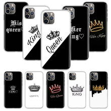 King Queen Couple Lovers Case for Apple iphone