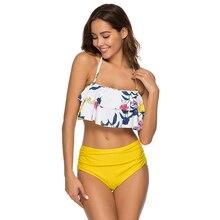 bikinis 2019 swimwear women sexy swimsuit separate push-up Ruffle Bathing Suit with tie Bikini suit xxxl