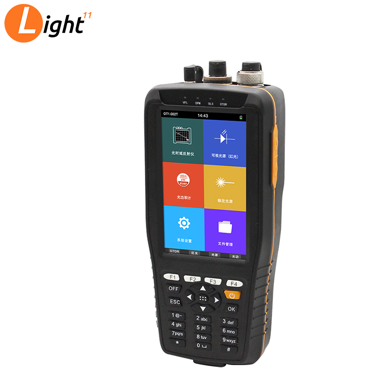 2019 New TM290 OTDR Optical Time Domain Reflectometer  4 In 1 With VFL/OPM/OLS Touch Screen 0m To 60km Range Optical Instrument