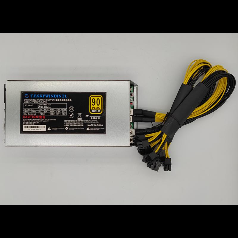 2000W PC Power Supply 2000W BTC APW7++ PSU Mining Antminer Power Supply Bitcoin S7 S9 L3+ Bitcoin Miner computer PSU 1800W 2000w
