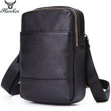 Flanker genuine leather men messenger bag with card holders vintage shoulder male travel belt waist pack crossbody phone