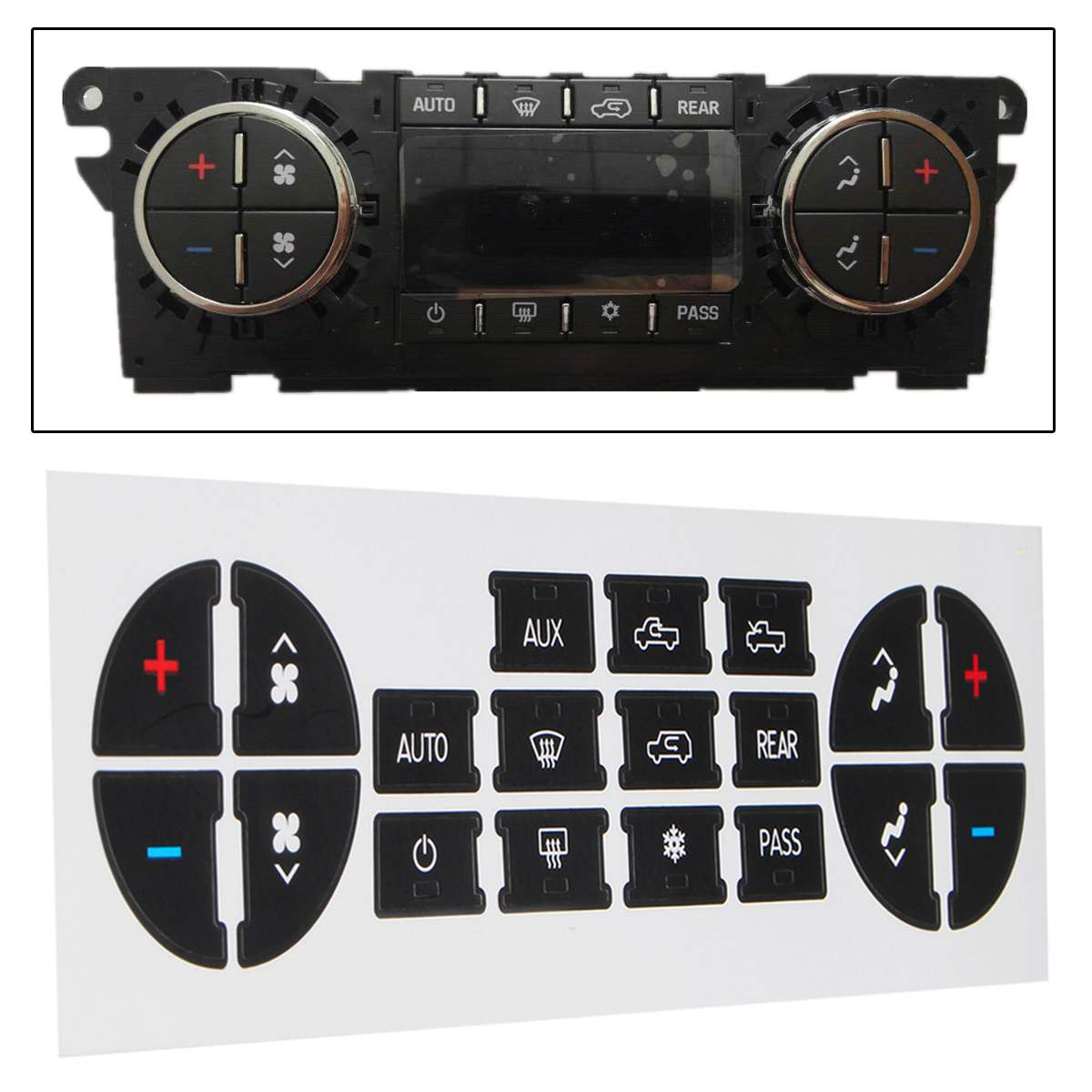 Car AC Dash Button Repair Sticker Decal Kit Dash Replacement 07-13 For Chevrolet For Buick For GMC Vehicles Car Decal Stickers