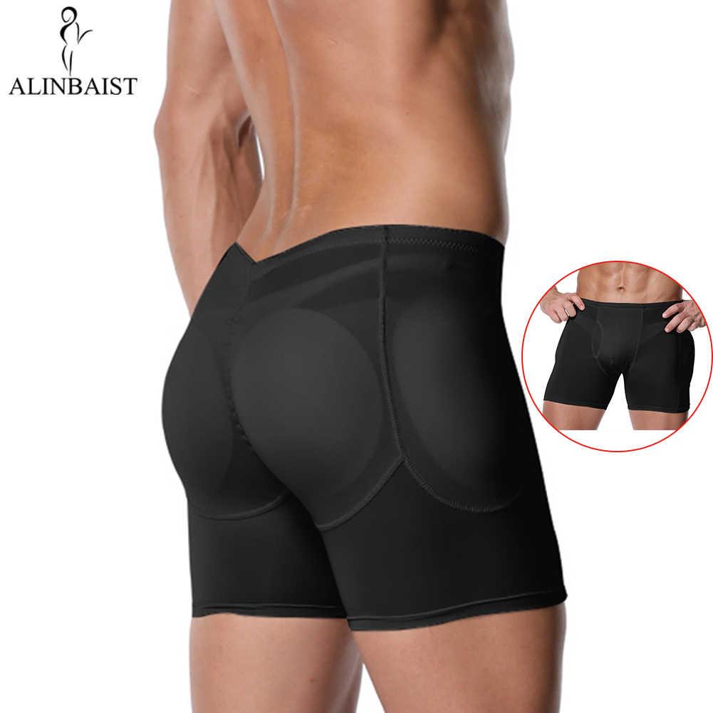 Men/'s FAKE ASS Panties Padded Underwear Boxer Shapewear Butt Lifter Body Shaper