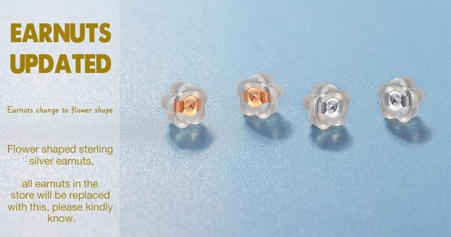 925 Sterling Silver Birthstone Stud Earrings 5