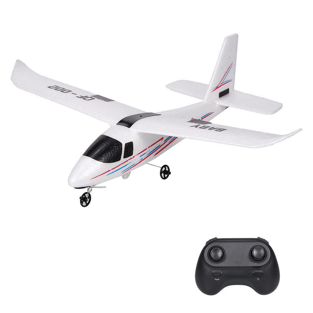 Remote Control Glider QF002 DIY assembled 2.4G drop-resistant EPP fixed wing rc airplane electric planes aircraft for Beginner