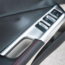 цена на ABS Matte LHD For Honda City Sedan 2014 2015 2016 Accessories Car Door Window Glass Lift Control Switch Panel Cover Trim Styling