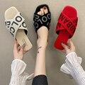 2021 Новая летняя уличная модная женская пляжная обувь; Шлепанцы для девушек; Обувь на плоской подошве туфли на плоском ходу с открытым носком...