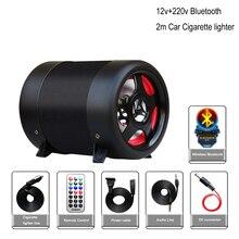 4 дюйма Bluetooth сабвуфер динамик автомобиля домашнего использования на мотоцикле аудио hi-fi НЧ-динамик полного диапазона Динамик TF воспроизведения музыки 12 V/220 v