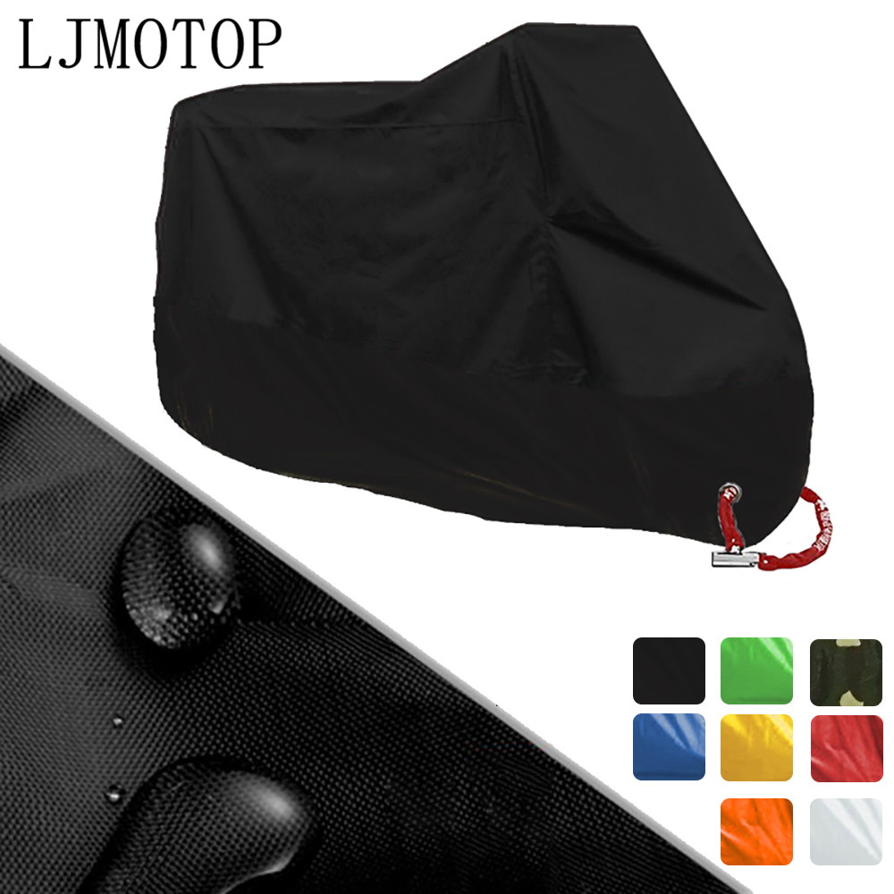For Motorcycl Cover Super Waterproof M L XL XXL XXXL XXXXL Universal Outdoor Uv Protector Bike Rain Dustproof Motorcycle Cover