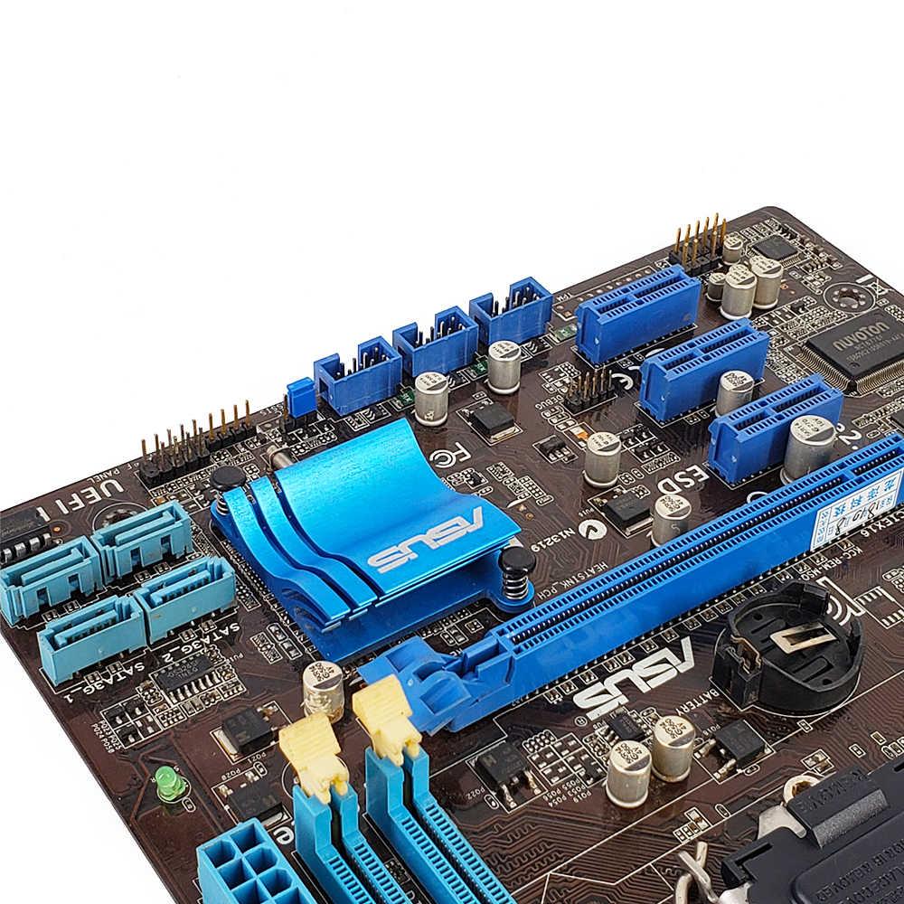 Asus P8H61-M LE Desktop Motherboard H61 Soquete LGA 1155 Para Core i3 i5 i7 DDR3 16G SATA2 USB2.0 uATX usado Original Mainboard