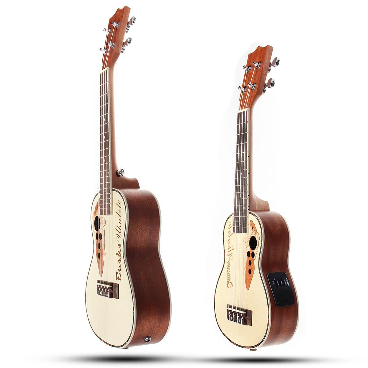 21 23 pouces 4 cordes Concert ukulélé électrique acoustique ukulélé Hawaii guitare épicéa Portable Mini guitare Instrumentos Musicais