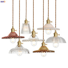 IWHD American Country Copper Pendant Lights Fixture Bedroom Dinning Living Light Loft Industrial Vintage Lamp Hanglamp Luminaria vintage loft industrial american country black spider lamp hemp rope pendant lights for coffee shop dinning room