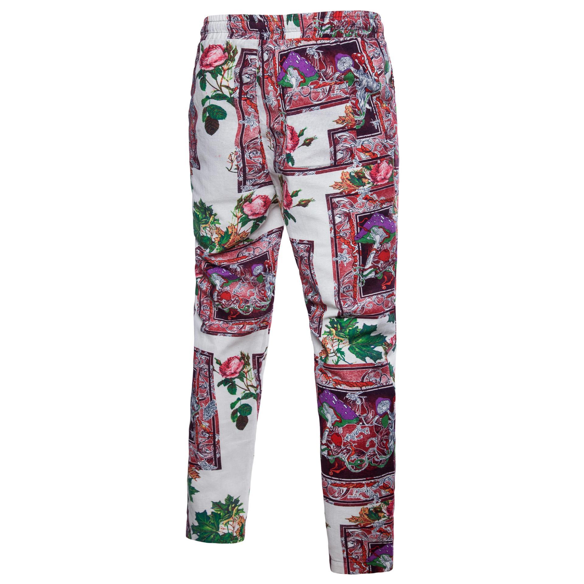 Separate Station Men Chinese-style Flower Pants Plus-sized MEN'S Belt Decoration Ethnic-Style Pants