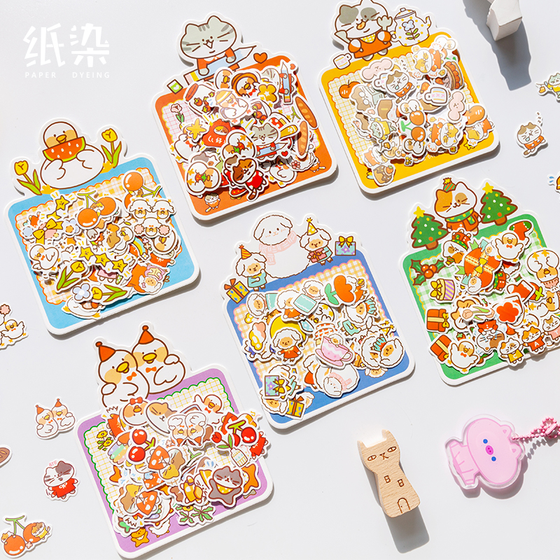 6bags/LOT Cutie Series Creative Decoration DIY Non Drying Adhesive Paper Stickers