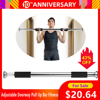 Adjustable Doorway Pull Up Bar Fitness Door Way Chin Up Horizontal Home Gym Exercise Fitness Workout Equipment 350LB Bearing 1