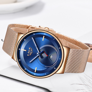 Image 5 - レロジオ Feminino LIGE 2020 新レディース腕時計ブルーファッション腕時計女性防水時計スリムクォーツレディース腕時計 Relojes Mujer