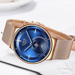 Image 5 - Relogio feminino lige 2020 novas mulheres relógios de moda azul relógio à prova dwaterproof água das senhoras de quartzo fino relojes mujer