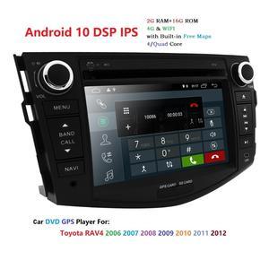 Image 2 - Android 10 car dvd player for Toyota RAV4 Rav 4 2007 2008 2009 2010 2011 2 din 1024*600 gps navigation wifi Quad core