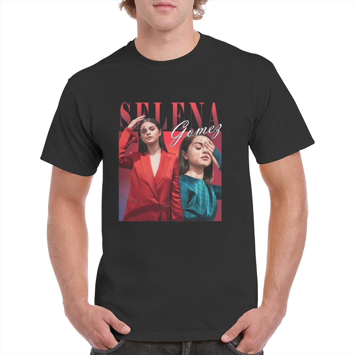 Selena Gomez – T-Shirt unisexe, rétro, tendance, populaire, graphique des années 90, pour femmes et hommes, 100%, couverture en coton