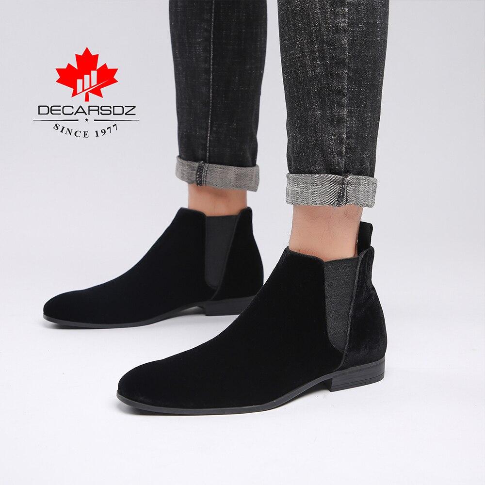 DECARSDZ Men Chelsea Boots Spring Autumn Fashion Shoes Man Comfy Slip-on Casual Boots Men New Original classic design Men Boots 3