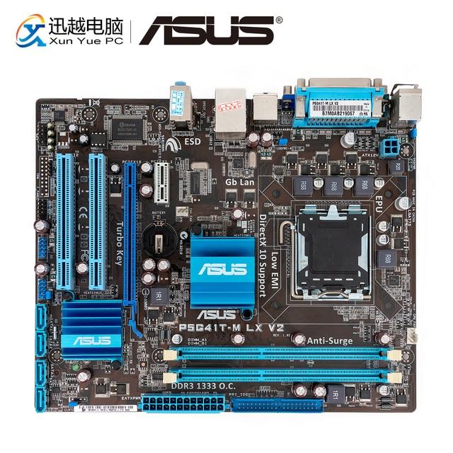 Asus P5G41T M LX V2 Desktop Motherboard G41 Socket LGA 775 For Core 2 Duo DDR3 8G SATA2 VGA uATX Original Used Mainboard