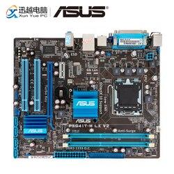 Asus P5G41T-M LX V2 Masaüstü Anakart G41 Soket LGA 775 Çekirdek 2 Duo DDR3 8G SATA2 VGA uATX orijinal Kullanılan Anakart