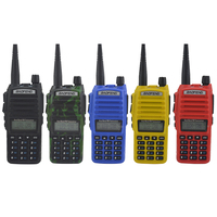 baofeng uv 82 dual band Walkie talkie VHF/UHF 136 174MHz & 400 520MHz two way radio baofeng uv82 dual PTT switch with headset