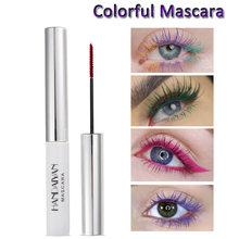 Cosmetics Colorful Mascara Thick Curled Volume Slender Lengthen Lashes No Dyeing Waterproof For Party Festival Eyelashes Makeup