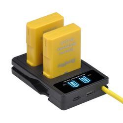 Bateria + carregador usb para nikon, 1530mah EN-EL14a EN-EL14 el14 com tipo c para nikon d5600, d5500, d5300, d5200, d5100, d3200, d3300, p7800, p7100