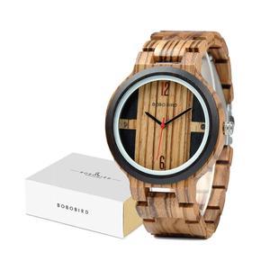 Image 5 - Relogio בובו ציפור עץ שעון גברים קוורץ שעוני יד חדש עיצוב שעונים עבור גברים ונשים עץ שעון מתנה Dropshipping
