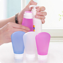 цена на 37/60/89ml Empty Travel Bottles Refillable Soap Dispenser Skin Care Lotion Shampoo Gel Squeeze Silicone Bottle Containers